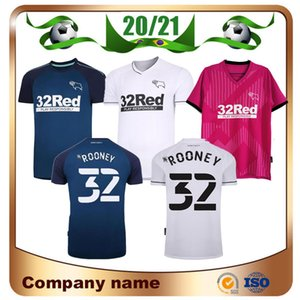 20/21 Derby County Football Club Football Jerseys 2021 Home White Wisdom Warhorn Martin Shirt de football Hamer Rooney Uniforme de football