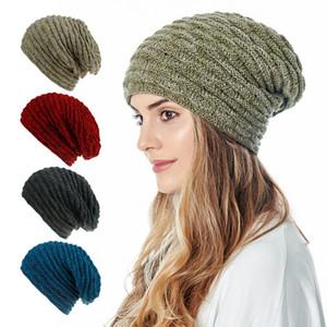 Gratuit DHL UPS INS 8 couleurs Femmes d'hiver Bonnet unisexe en bonneterie toques de velours crochet Chapeaux Skully Réchauffez Caps ski Trendy épais et doux