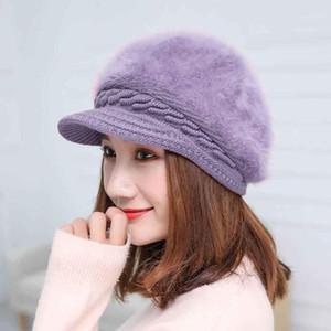 Knitted Hat Women Winter Thermal Hats For Women Ladies Beanie Girls Skullies Bonnet Femme Warm Wool Hat Female Beanies1