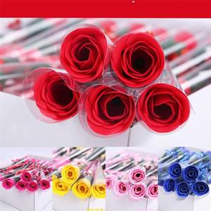 Single Soap Flower Rose Originalità Pratica MAI ACCES0 ACCESORSI ACCESSORI STIRARING DONNA MAN SOAPWORT Valentines Giorno Regalo 0 53ry K2
