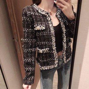 mince Mode Femmes Blazers Femme 2020 Manteau coton hiver laine femmes tweed blazers et vestes Casual Blazer mince pour 0139