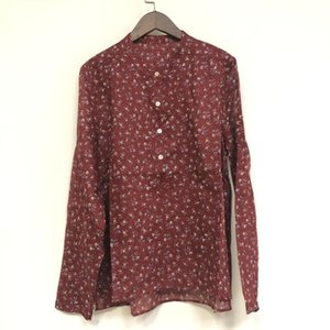 Women Floral Printed Blouse Cotton Long Sleeve 2020 New Female Shirt with Buttons