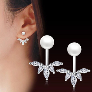 New silver jewelry 925 nezy, high quality women's fashion earrings, long back of cubic zirconium, earrings