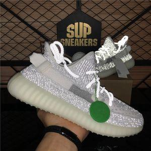 Top Quality Kanye West Hommes Femmes Courant Chaussures Zebra Cinder Queue Lumière Réfléchissant Israfil Asriel Linge Hommes Baskets Baskets avec boîte