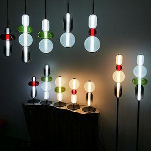New product light  color glass ball pendant light modern simple restaurant living room bar villa lamp decoracion salon