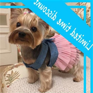 Summer for Dog Wedding Dress Skirt Puppy Clothing Spring Fashion Jean Pet Clothes XS-L