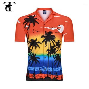3D Impresión digital Hombres Playa Camisas Verano 2020 Moda Casual Hawaii Camisa Hawaii Funda de manga corta con giro Cuello Coco Coco Blusa Tops1