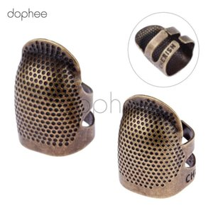 dophee 1pcs Hard Metal Antique Brass Sewing Thimble Needles Finger Protector For DIY Sewing Tools Accessories