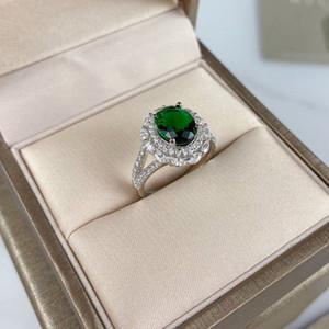 Verastore 18 carati in intarsio d'oro anelli nuovo alto alta qulity smeraldo zircone anelli diamante per le donne gioielli di lusso di lusso