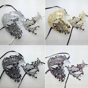 Pareja de ojos Conjunto de metal Skull Filigree Amantes Medio veneciano Y200103 One Cosplay Party al por mayor CXNCL PR Pasar Mask Mascar Masquerade Costu VGXM