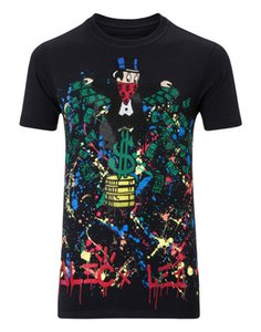 "Men T-SHIRT ROUND NECK SS ""MONOPOLI AL"" cotton jersey t-shirt by the street artist Alec Monopoly enriched by colored crystals"