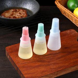 Силиконовая масла Бутылка Высокотемпературная щетка с крышкой для барбекю для барбекю для выпечки, управляемая масло кисти для барбекю GWA3507