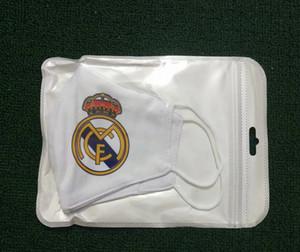 Real Madrid Mascarilla de fútbol Material de algodón Fútbol 5pcs Fans de equipo Máscaras Máscaras Dispositivo Puede colocarse en el medio lavable