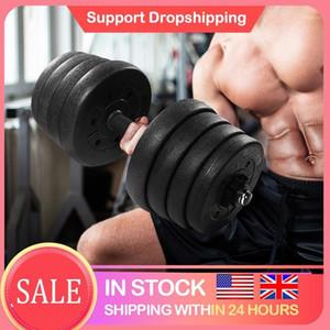 En stock 30kg Dumbbell Poids Set ajustable Solid Solid Fitness Ensemble Sécurité Sécurité Dumbbells antidérapants Formation d'exercice de gymnase Indoor1
