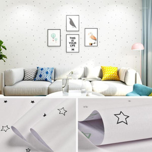 Cartoon Cute Star Wallpapers Childs Room Wall Decals Self-adhesive PVC Furniture Wallpaper Mural Kids Bedroom Decor Behang QZ1671