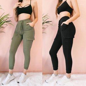 Женские брюки CAPRIS 2021 женская груза мода высокая талия карандаш карандаш карандаш повседневная дама карманные тонкие длинные брюки фитнес Sportswear1