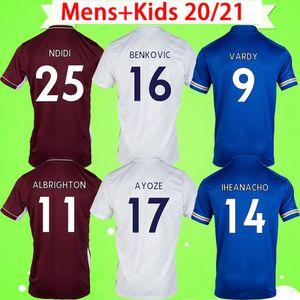 Leicester city 2020 2021 레스터 시티 축구 유니폼 홈 어웨이 써드 블루 화이트 레드 AYOZE GRAY 20 21 축구 셔츠 VARDY camiseta NDIDI MADDISON 유니폼 성인 남성 + 키즈 키트