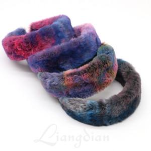 Inverno Faux Fur fascia per le donne Warm Accessori per capelli di colore della caramella pelliccia dell'involucro della testa Testa femminile