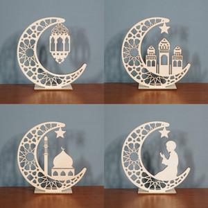 Ramadan decorazione in legno Islam musulmano Eid Ramadan fai da te moon stella da tavolo ornamenti da tavolo ufficio ufficio decorazione
