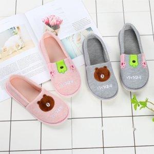 vwkxi Луна осени зима мультфильм медведь чистого хлопок материнство толстой подошвы теплых беременные женщины обувь мешок пятка теплой РОДИЛЬНОЙ обуви юн фу xié