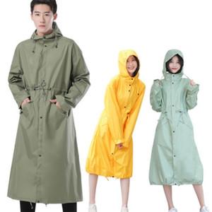 Largas impermeables mujeres hombres impermeables, al aire libre lluvia ponchos abrigo chaquetas hembra chubasqueros impermeables mujer grande tamaño 201028
