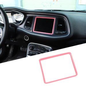 Pink Center Consoles Navigation Frame Decoration Trim per Dodge Challenger 2015 su ABS Automobile Accessori interni auto