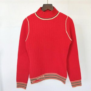 O-neck Long Sleeve Knitted Sweater Women 2020 Winter New High Quality Embroidered Women Sweater Fashion Casual Bottoming Shirt