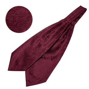 Mode barry.wang ties motif paisley motif mouchoir Cravat Men Set Hommes Marque Marque Mariage LF-0001 pour Silk Party Tuxedo Bowtie Ascot JDSHR
