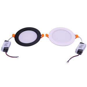 LED Lights AC 100-240V Recessed Ceiling Downlights with Driver Black and White Housing for Office Bedroom Shopping Mall Indoor Decor