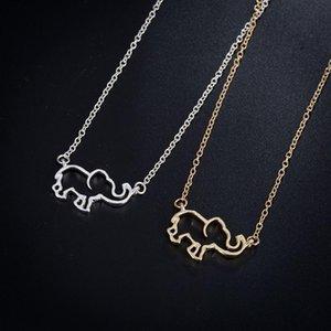 펜던트 목걸이 2021 여성 목걸이 골드 스테인레스 스틸 쥬얼리 목에 코끼리 펜던트 펑크 귀여운 간단한 도매 액세서리
