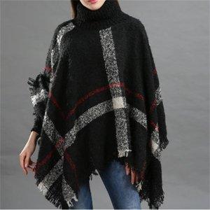Autumn Winter Ladies 'Cascões Collar Soltar Fringed Cloak xaile Moda Horário e Cuidados com Pele
