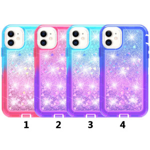 Gradient double couleur Quicksand TPU antichocs Dirt épreuve Phone Case pour iPhone 12 max 12 Pro Max