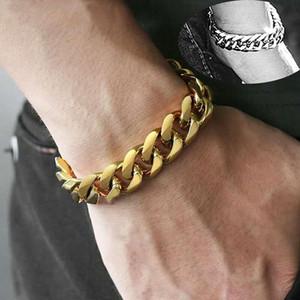 2020 love stainless steel designer fashion luxury Sale men retro bracelet gifts mens chain curb cuban link rock charm hand bracelets 36BK#