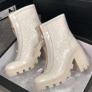 Высококачественные зимние женские ботинки Calfskin Martin Boots Съемные нейлоновые сумки боевые ботинки дамы наружные толстые нижние туфли средняя длина ботинок
