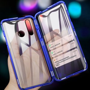 Full Magnetic Cover Case For Huawei P Smart Z Case 360 double side Glass Cover for y9 2019 Magnet Metal For Y9 Prime cases