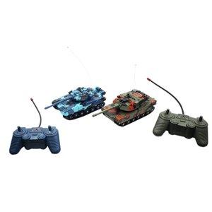 2PCS Duplo Pequeno Battle Tank Controle Remoto Anti-Queda Educacional Toy Rc Car de colisão Crianças