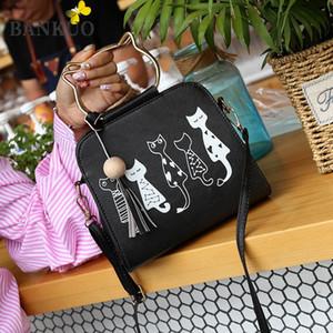 Omuz Çantaları Bankuo Kadınlar Için 2021 Kızlar Çanta Satchels Fermuar Flap Kotes Polyester Karikatür Yumuşak Rahat Kore Koleji Tarzı Z24
