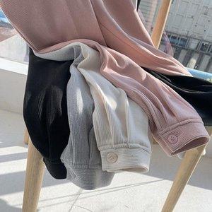 Matakawa pantalones casuales sueltos de pierna recta rábano rábano mujer pantalones otoño e invierno 2021 pantalones de pantalones mujeres