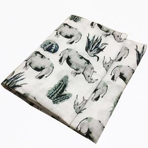 Hot New Baby Cobertores recém-nascido macio Organic Bamboo Cotton Baby Bibs Muslin gavetas Enrole alimentação Burpy Toalha Cachecol Big Diaper SWY bbyZPG