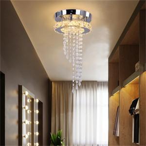 Modern high-end LED crystal ceiling lights creative living room lighting rotunda lamp atmospheric dining room lamp bedroom ceiling lamp