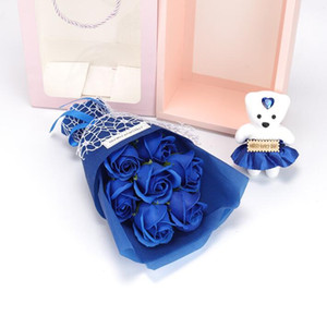 Artificial Rose Bouquet Soap Flowers wedding decorations Valentine Day Christmas Mother Day Gift with a handbag