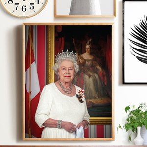 Modern Artwork Elizabeth Queen Portrait Canvas Art Pictures Posters and Prints Paintings Wall Stickers Home Living Room Decor