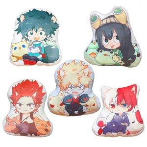 42-45cm My Hero Academia pillow toy Anime Izuku Bakugou Todoroki Tsuyu Kirishima Eijiro stuffed doll double sided case for gift 1011