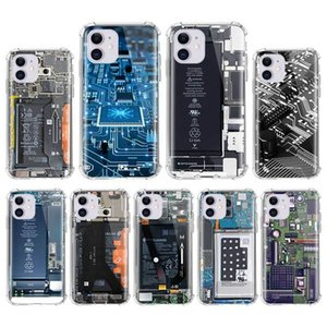 Airbag Anti Fall Capa For iPhone 7 8 11 Pro Max XS X XR 6 6S Plus SE 2020 Mobile Carcasa Coque Classic Motherboard Circuit Board