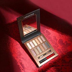 Sombra de ojos 12 Color belleza mate marrón sombra de ojos pallete natural duradería impermeable ojos fáciles usar sombras maquillaje cosméticos