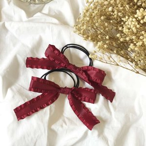 Hashetail Hairpin Fairband с различными цветами ленты красный лук повязки