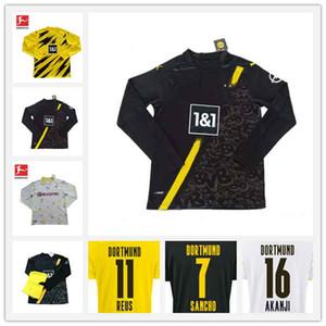 2020 Dortmund Haaland 축구 셔츠 Reus Sancho Long Sleeves 축구 유니폼 도르트문트 남성 110 주년 기념 버전 Emre 축구 유니폼