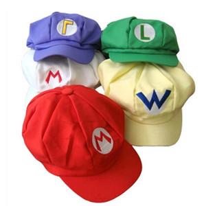Super Mario Bros Anime Cosplay Red Cap Tag Super cotton hat Super mario hats Luigi hat 5 colors C89