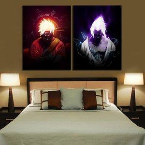 Anime Poster Print Uzumaki Naruto and Uchiha Sasuke Naruto Canvas Painting for Home Bedroom Decor Wall Art Picture Unframed