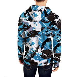 INS Autumn And Winter Hooded Zipper Hoodie Camouflage Printed Coat Long Sleeve Couples Celebrity Style Oversize off-the-Shoulder A7I2 P6CM